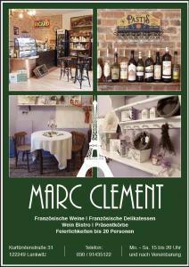 Anzeige Restaurant Marc Clement