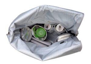 Wickelrucksack - Rolltop Backpack, Grey , innen